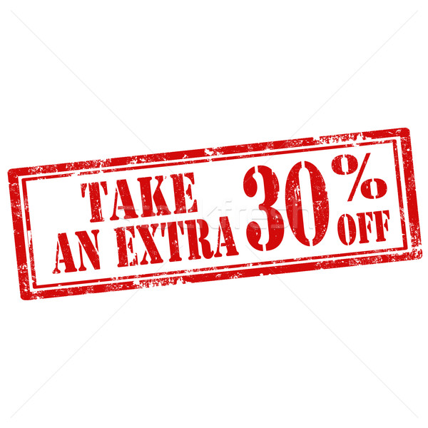 Take An Extra 30% Off-stamp Stock photo © carmen2011