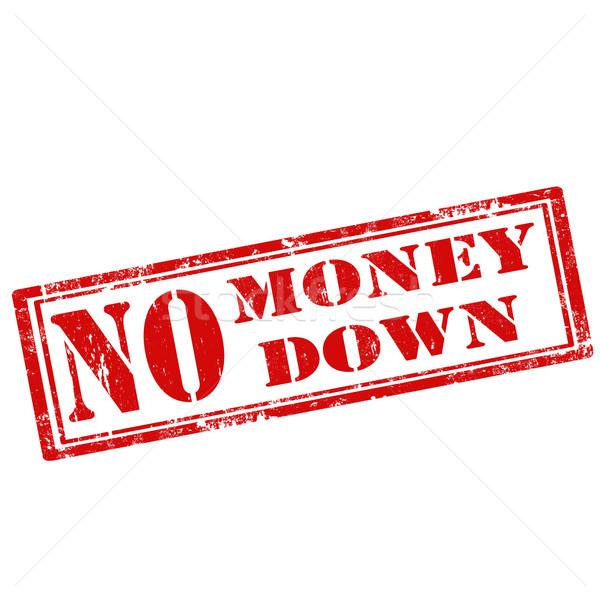 Nincs pénz lefelé grunge pecsét szöveg üzlet Stock fotó © carmen2011