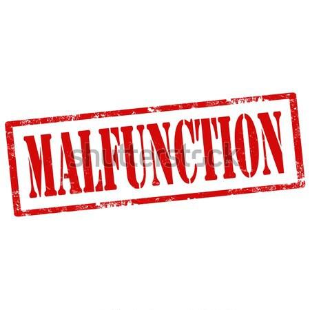 Malfunction-stamp Stock photo © carmen2011