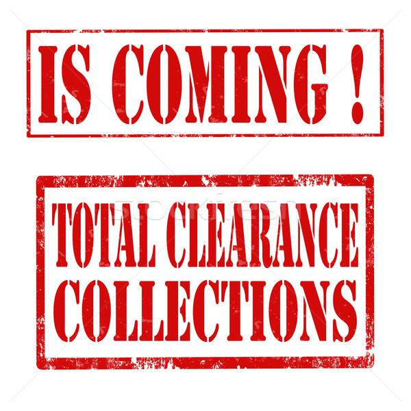 Establecer sellos grunge goma texto Foto stock © carmen2011