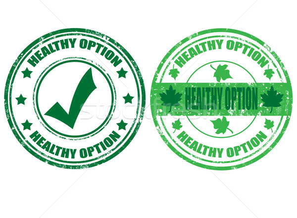 Set of healty option stamps Stock photo © carmen2011