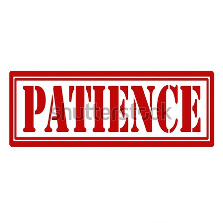 Patience-stamp Stock photo © carmen2011