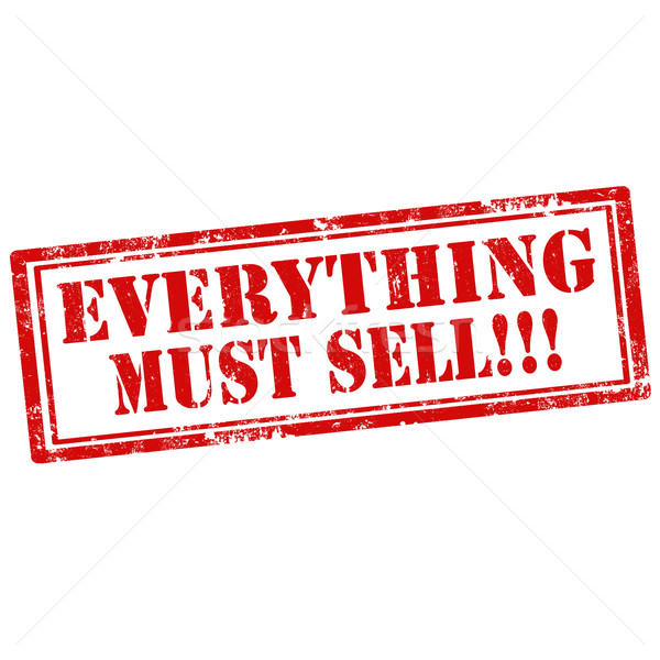 Stock photo: Everything Must Sell