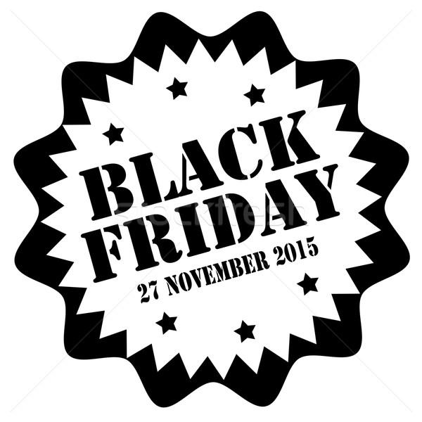 Preto black friday borracha assinar venda preço Foto stock © carmen2011
