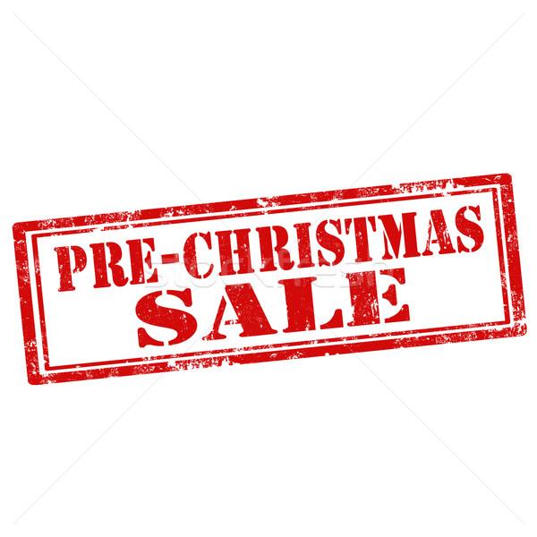 Pre-Christmas Sale-stamp Stock photo © carmen2011