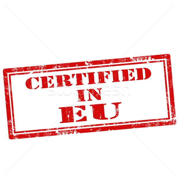 Certificado grunge texto europa borracha Foto stock © carmen2011