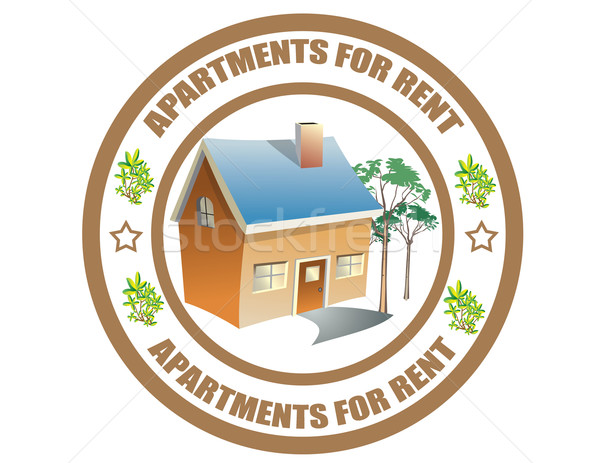 Apartments  for rent -label Stock photo © carmen2011