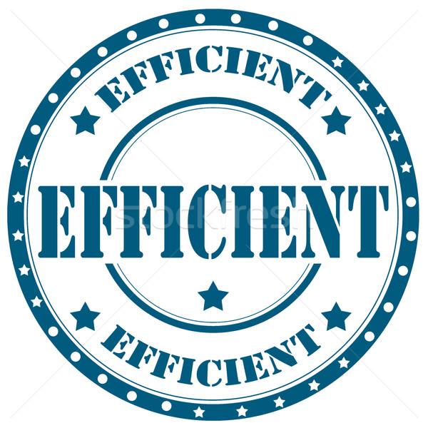 Efficient-stamp Stock photo © carmen2011