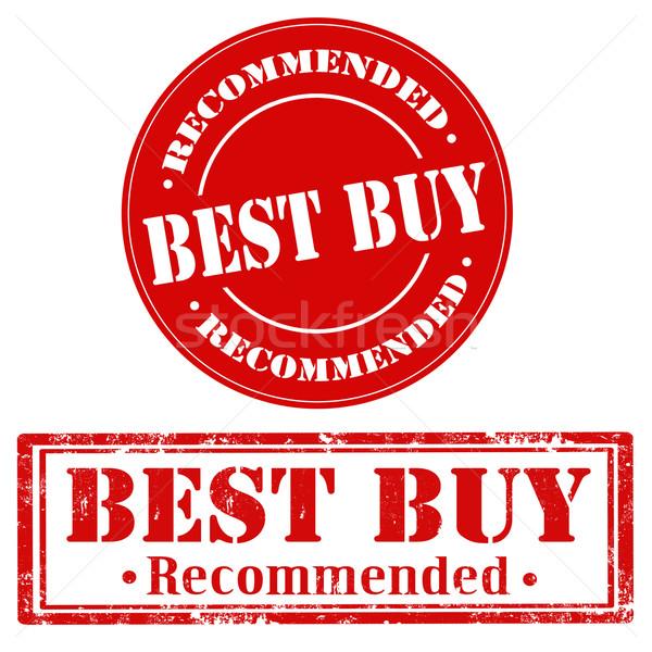 Foto stock: O · melhor · comprar · conjunto · selos · texto · venda