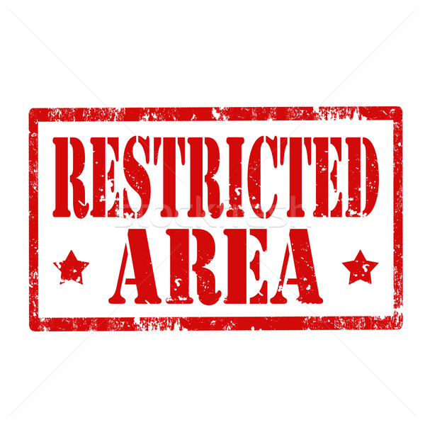 Restricted Area-stamp Stock photo © carmen2011