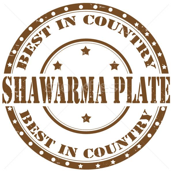 Shawarma Plate-stamp Stock photo © carmen2011