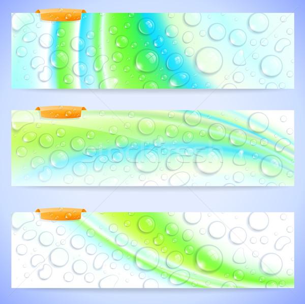 抽象的な バナー セット スタイリッシュ 新鮮な 水 ストックフォト © CarpathianPrince