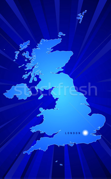 Map of England Stock photo © CarpathianPrince