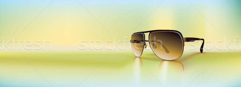 Vector retro gafas de sol prestados gradiente regular Foto stock © CarpathianPrince