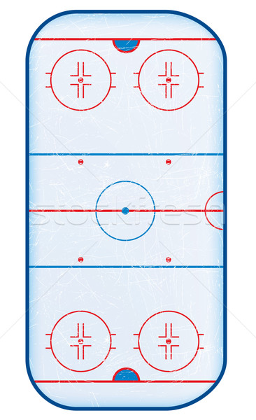 Top view of hockey rink. Stock photo © CarpathianPrince