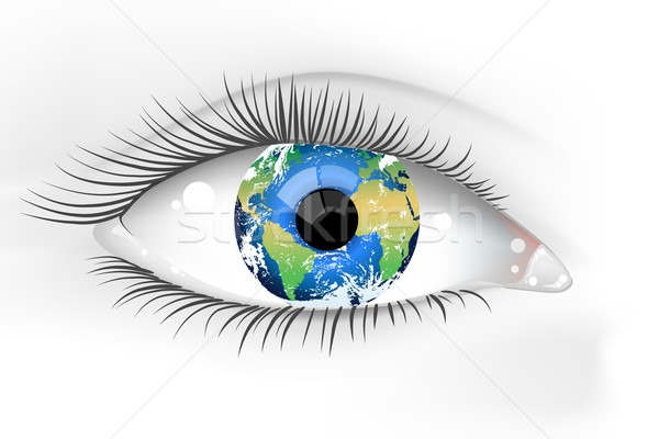 Planet Earth Eye Desaturated  Stock photo © CarpathianPrince