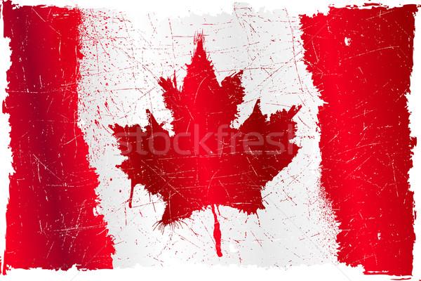 Canada grunge flag Stock photo © CarpathianPrince