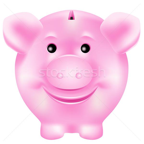 pink piggy Stock photo © CarpathianPrince