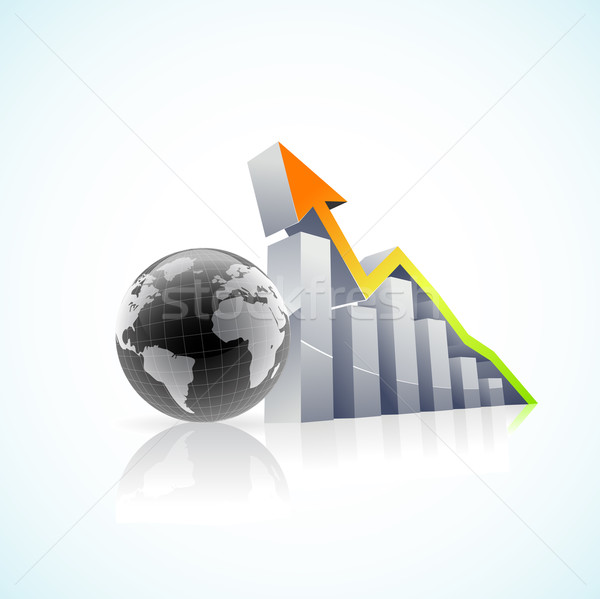 vector 3D global economy bar graph Stock photo © CarpathianPrince