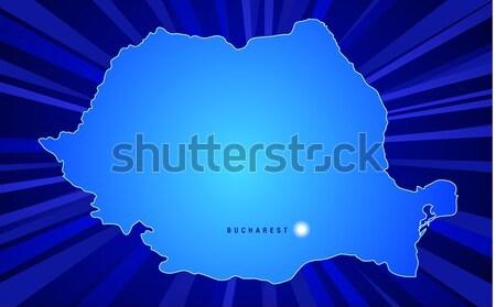 地図 ポーランド 日光 世界 にログイン 青 ストックフォト © CarpathianPrince