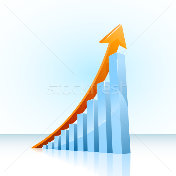 Business growth bar graph Stock photo © CarpathianPrince