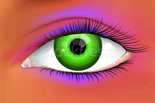Abstract bright green female eye  Stock photo © CarpathianPrince