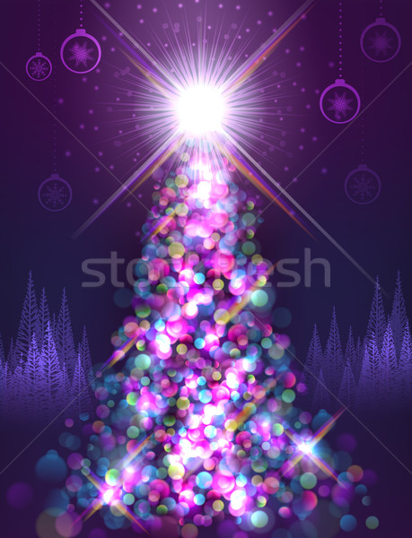 Brightly lit tree Stock photo © CarpathianPrince