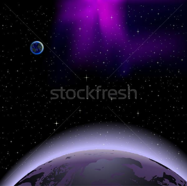 惑星 日の出 光 海 世界 スペース ストックフォト © CarpathianPrince