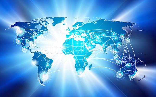 global network connection concept Stock photo © CarpathianPrince
