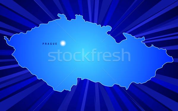 地図 チェコ共和国 日光 背景 にログイン シルエット ストックフォト © CarpathianPrince