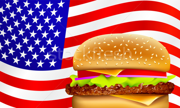 vector all American hamburger Stock photo © CarpathianPrince