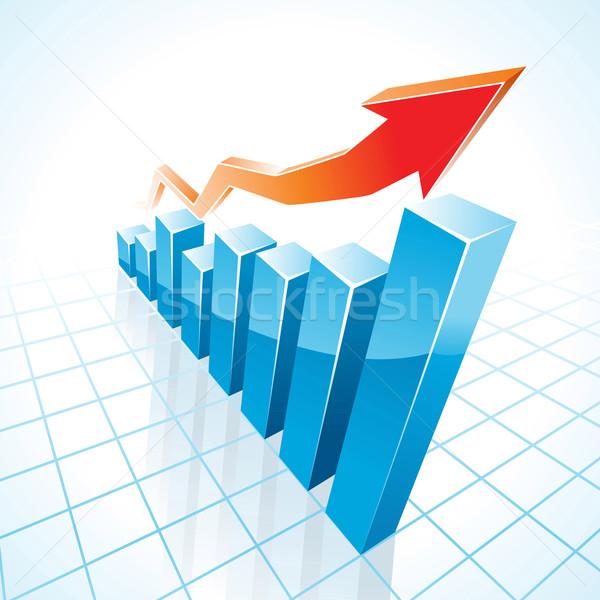 3d business growth bar graph Stock photo © CarpathianPrince