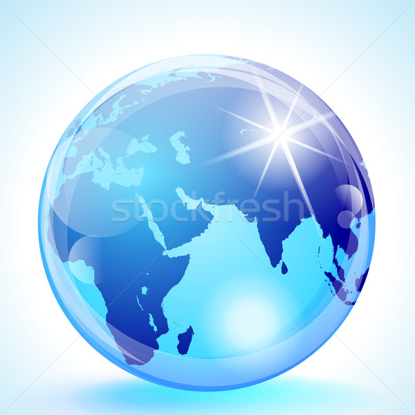 Middle East & Asia Globe Stock photo © CarpathianPrince