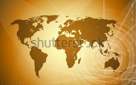 Vetor mapa do mundo techno abstrato oceano espaço Foto stock © CarpathianPrince