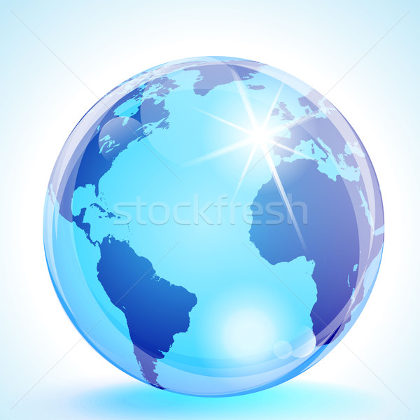 The Americas, Europe and Africa Globe Stock photo © CarpathianPrince