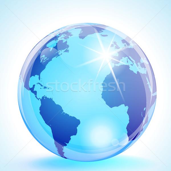 ヨーロッパ アフリカ 世界中 青 大理石 ストックフォト © CarpathianPrince