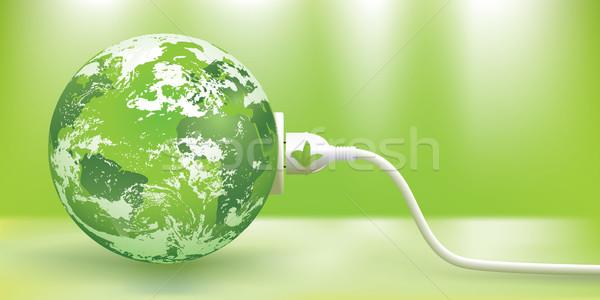 Vektor fenntartható zöld energia absztrakt zöld Föld Stock fotó © CarpathianPrince