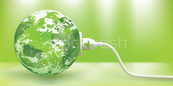 Vetor sustentável abstrato verde terra Foto stock © CarpathianPrince