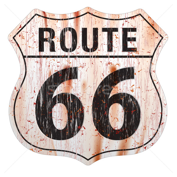 Route Sixty Six Grunge Sign