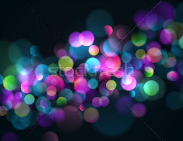 Abstract bokeh luci colorato frizzante Foto d'archivio © CarpathianPrince
