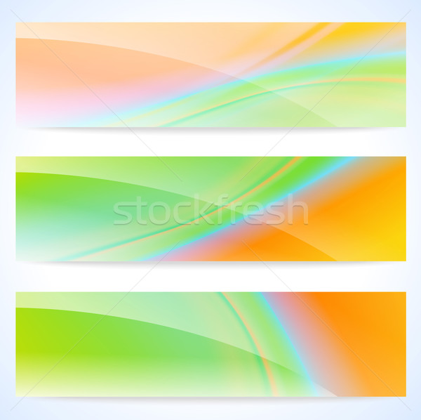 Glossy soft abstract banners Stock photo © CarpathianPrince