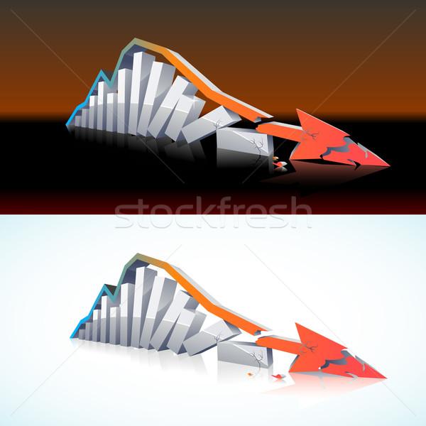 3D financeiro vetor global colapso dois Foto stock © CarpathianPrince