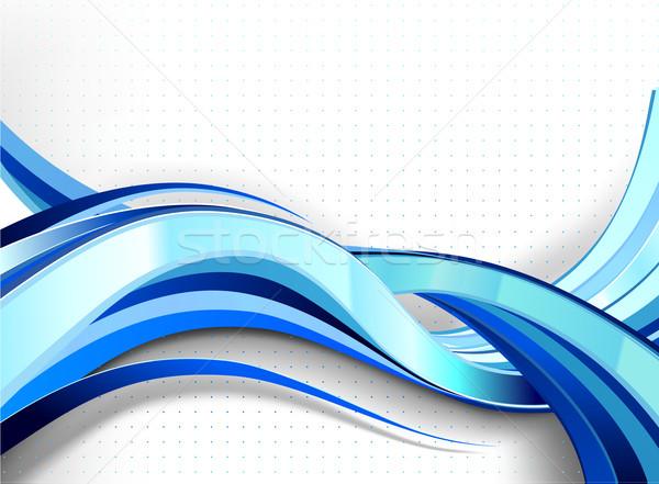 Stylish abstract wave flow. Stock photo © CarpathianPrince