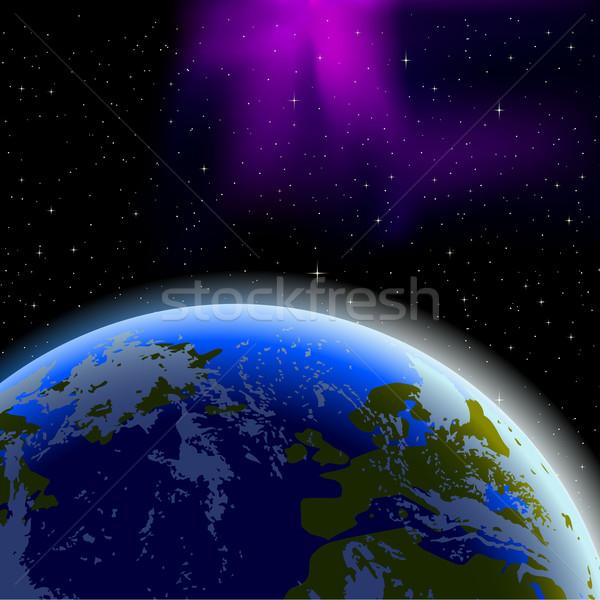 地球 地平線 スペース 水 光 海 ストックフォト © CarpathianPrince