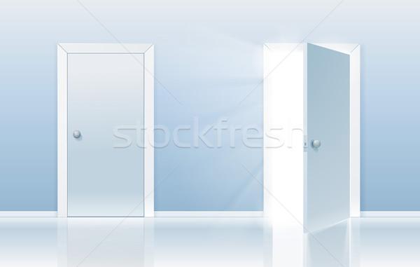 Deur gelegenheid Open gesloten een ander Stockfoto © CarpathianPrince