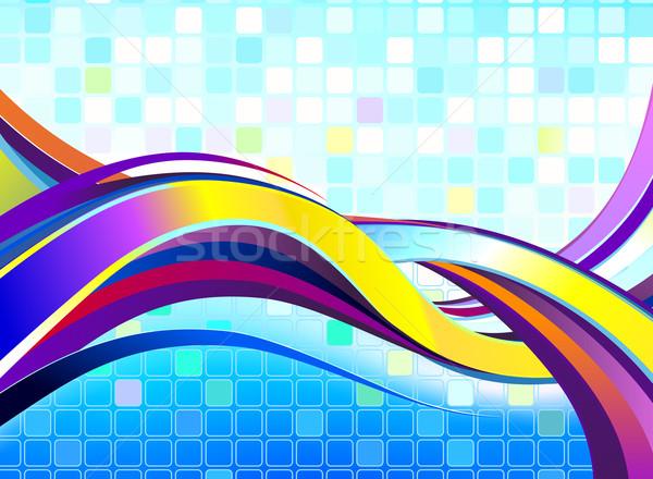 抽象的な カラフル 波 中古 勾配 ストックフォト © CarpathianPrince