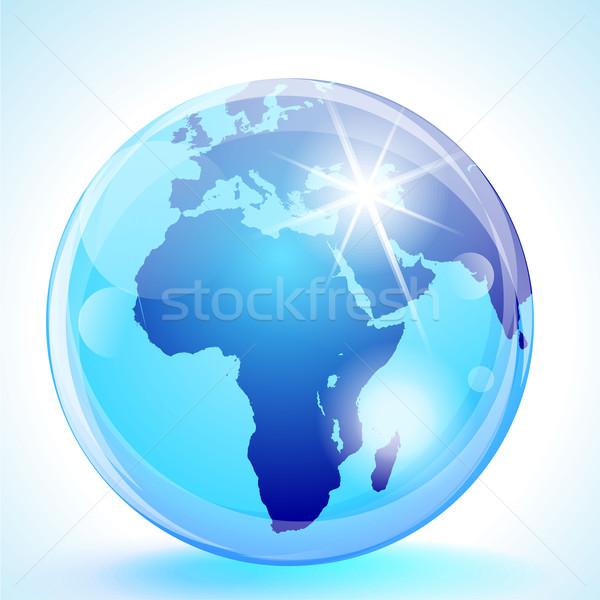 Европа Африка Ближнем Востоке мира синий мрамор Сток-фото © CarpathianPrince