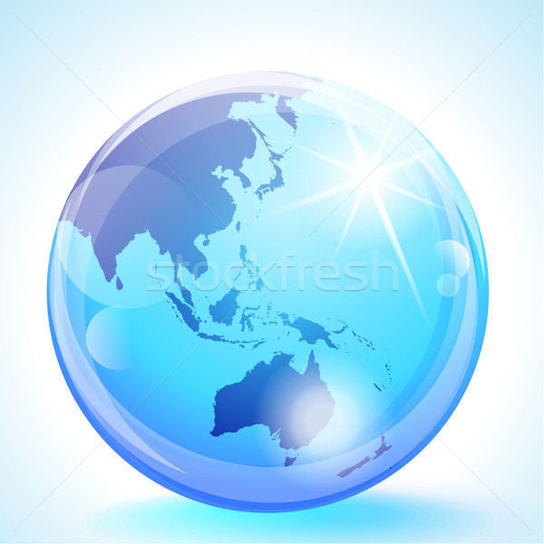 Asia Pacific Globe Stock photo © CarpathianPrince