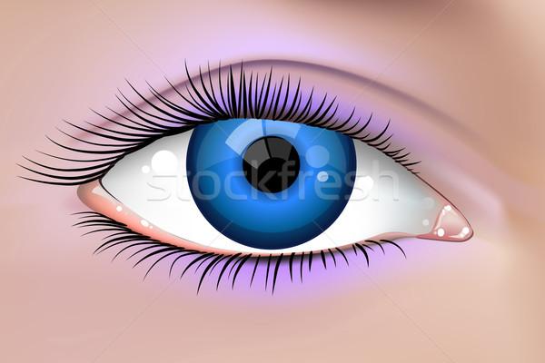 Mooie vrouwelijke oog illustratie jonge mode Stockfoto © CarpathianPrince