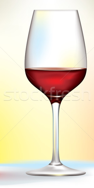 vector red wine glass Stock photo © CarpathianPrince
